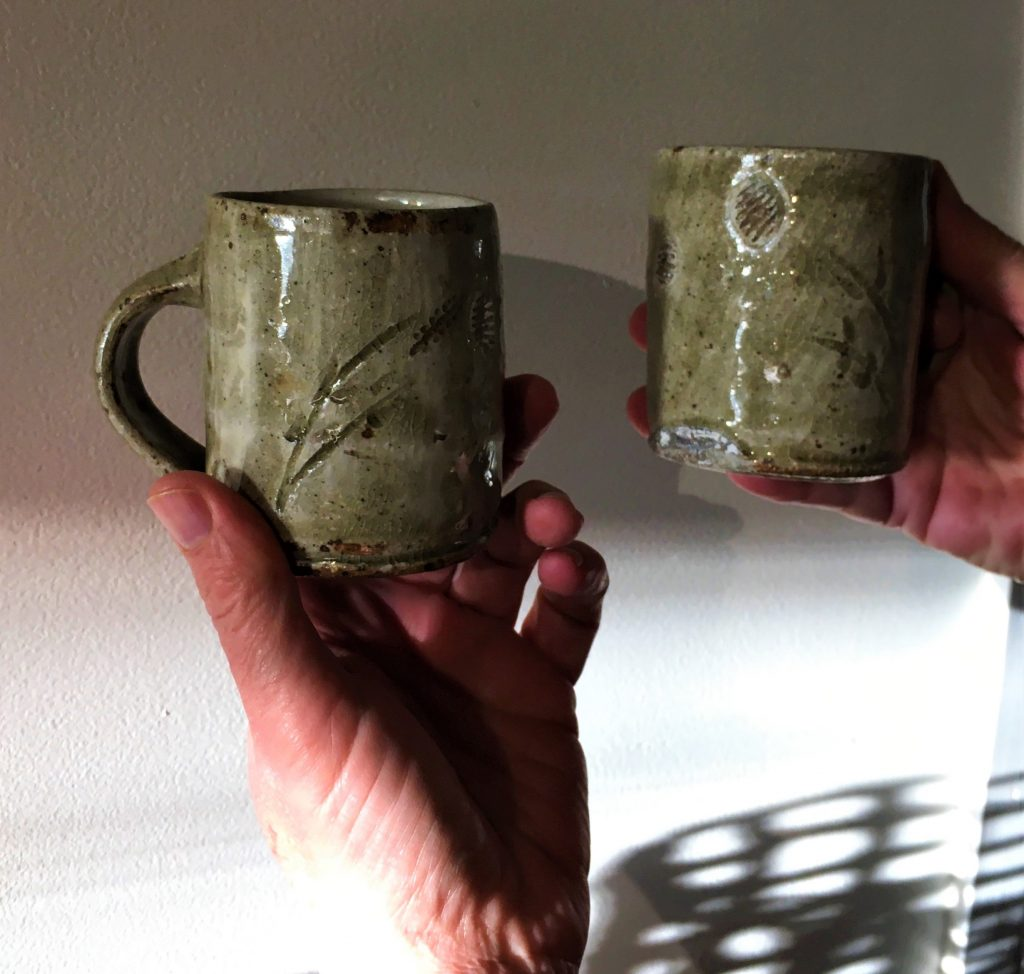Two mugs olive by John James
