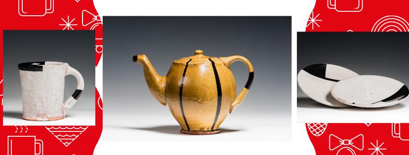 Daniel Garretson Teapot Mug and Plates