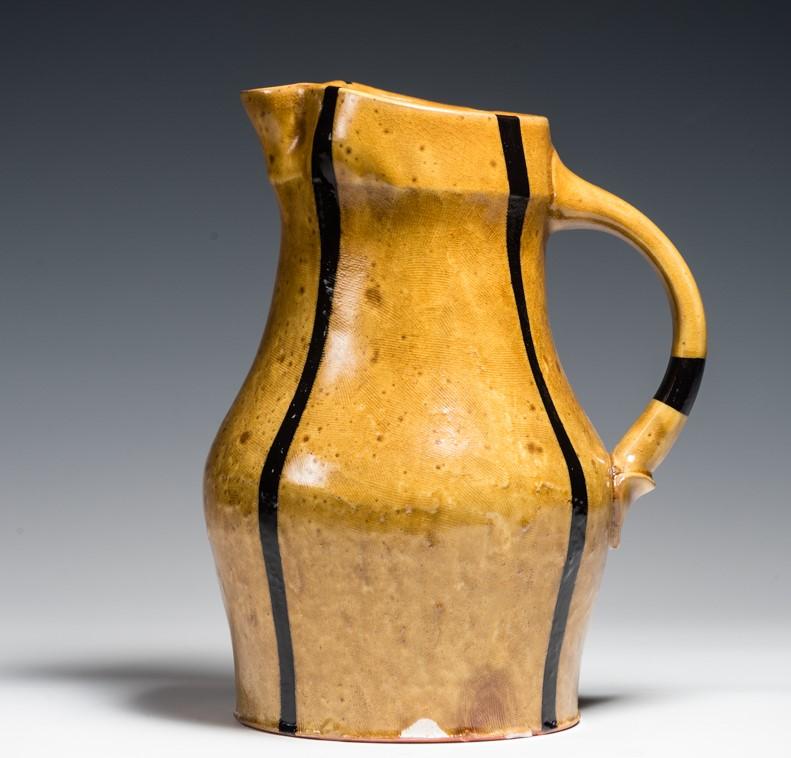 Big amber and black jug