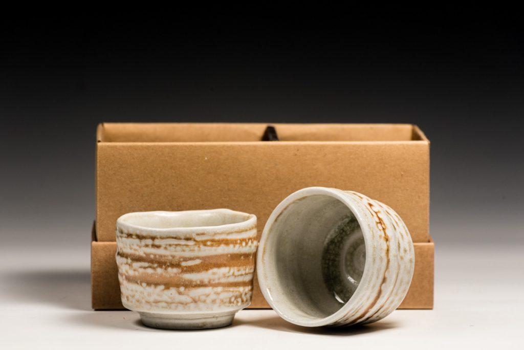 woodfired saltglazed whiskey cups